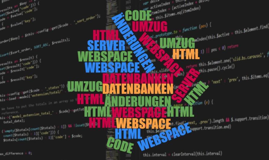 Umzug und Designänderung der Webseite